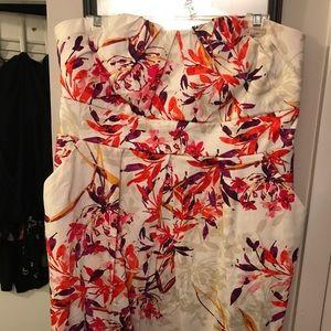 Torrid Size 16 Floral Tie Back Dress